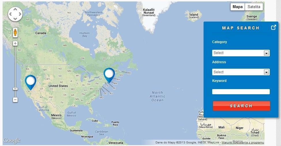 JomDirectory Ajax Map Search Module