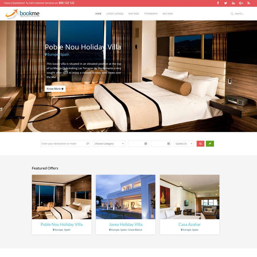 Travel template Joomla