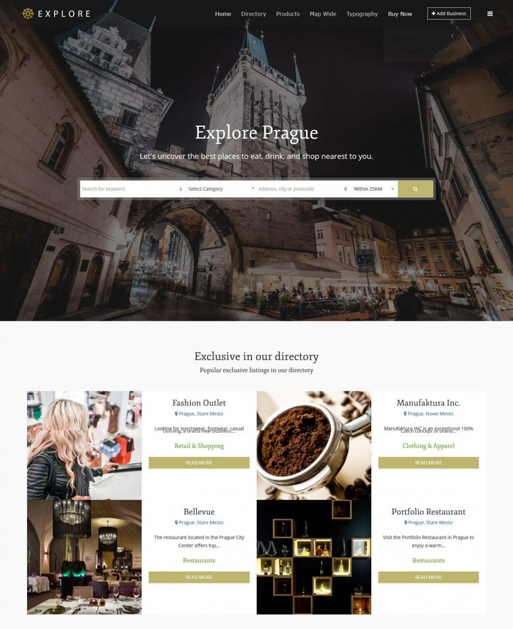 Explore Business Directory template