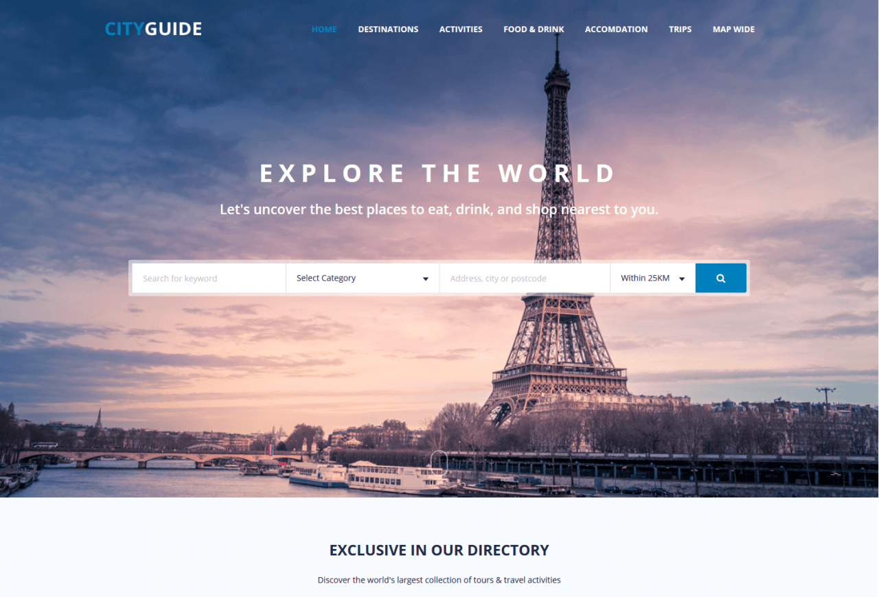 Our Partners: CityGuide - Joomla template for travel and tourism